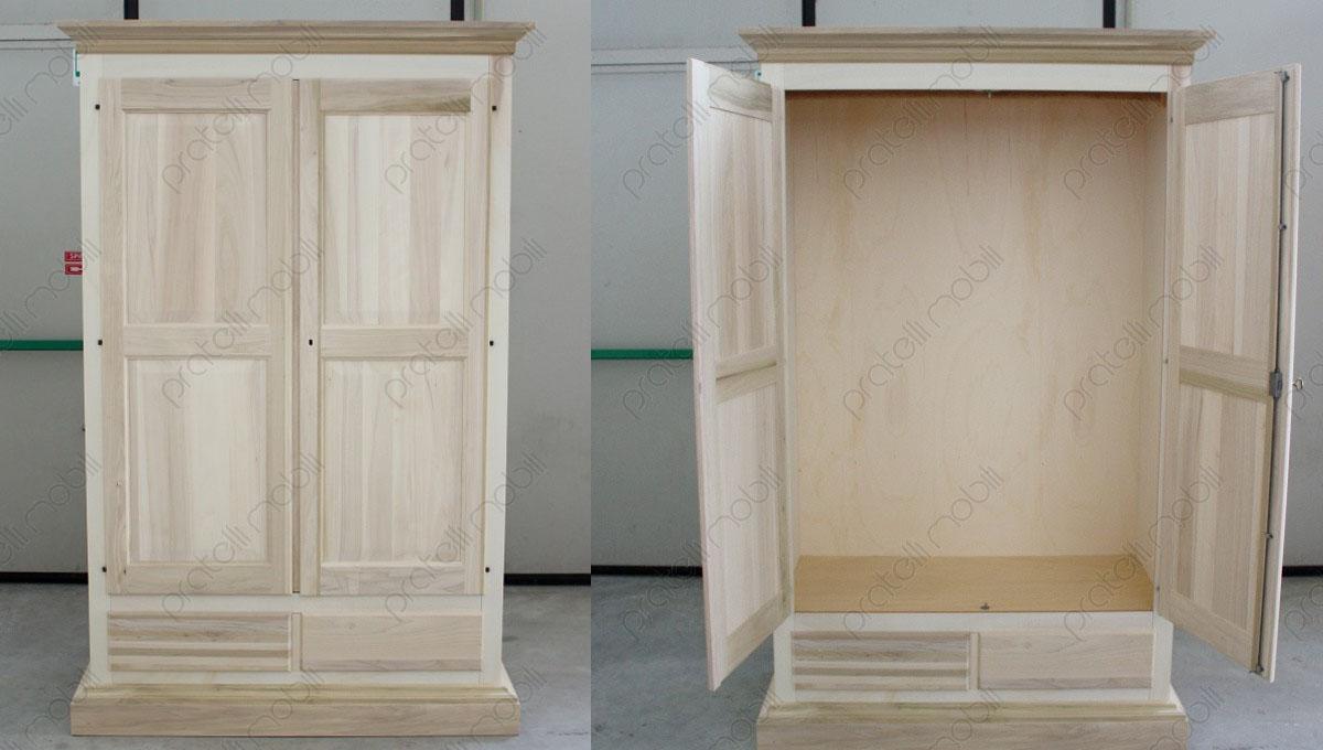 Pratelli mobili armadio in legno grezzo per la cameretta - Costruire un mobile in legno ...