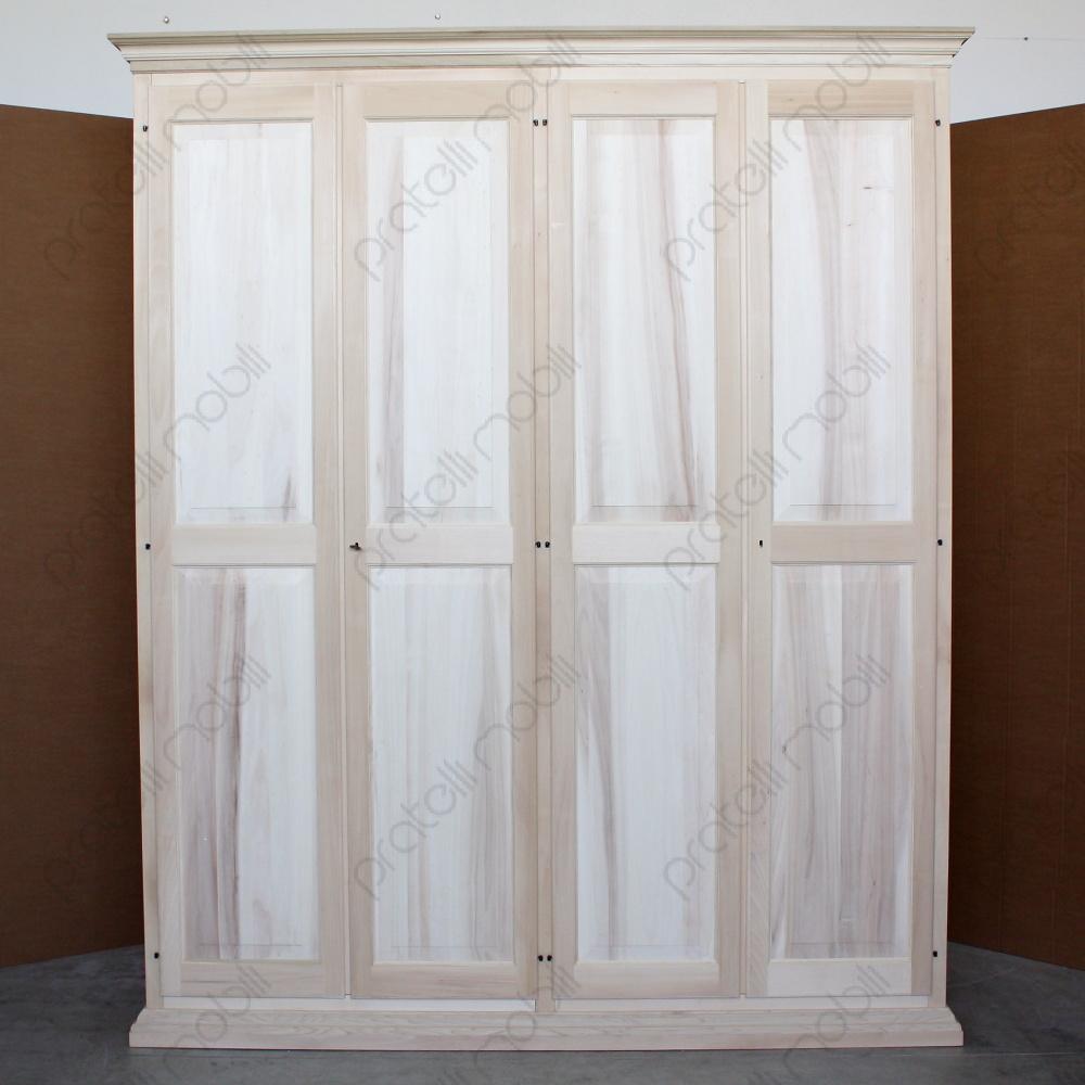 Legno Online Su Misura pratelli mobili armadio su misura grezzo 4 ante in legno