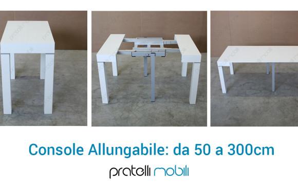 Il tavolo allungabile da 50 a 300 cm