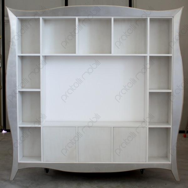 ... Librerie Su Misura / Libreria Porta TV Maddalena con Cornice Bombata