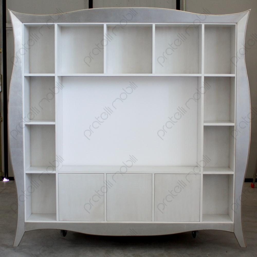 Libreria Porta TV con Cornice Bombata