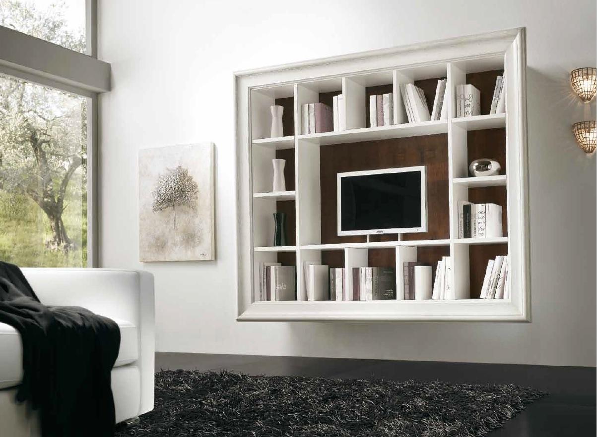 Pratelli mobili quali librerie sospese scegliere for Libreria a muro bianca