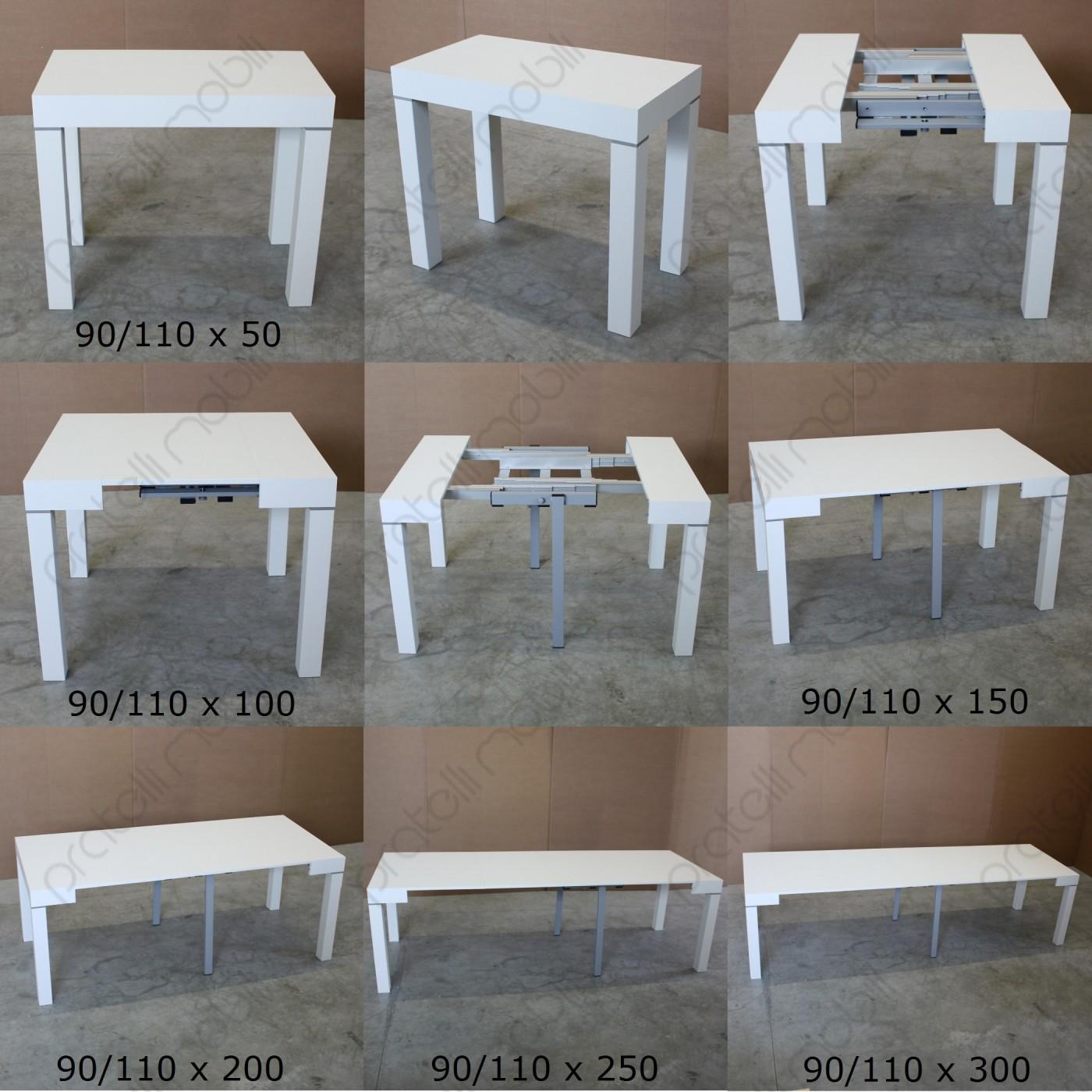 Tavolo consolle moderna allungabile fino a 300 cm for Consolle tavolo