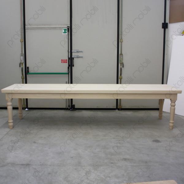Pratelli mobili tavolo grezzo su misura per taverna for Tavolo legno grezzo