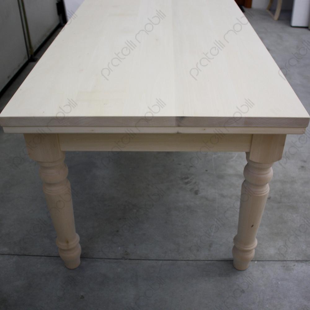 Pratelli mobili tavolo grezzo su misura per taverna - Tavolo 14 posti ...