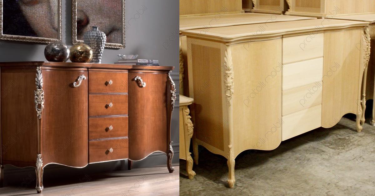 Credenza Con Vetrina Grezza : Pratelli mobili come arredare in stile barocco moderno la zona giorno