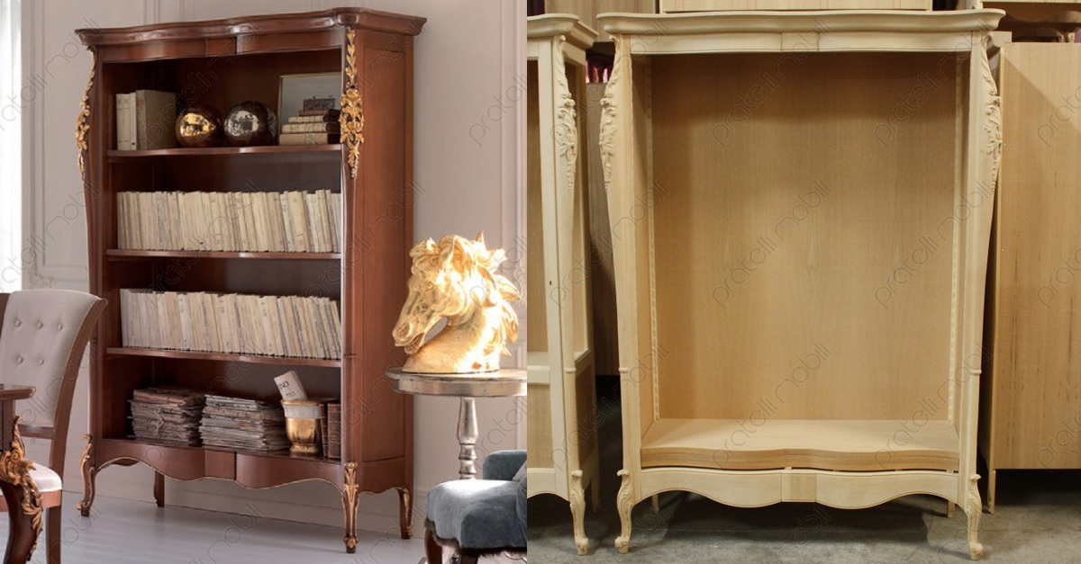 Finest libreria barocca flora with arredamento stile barocco for Arredamento stile barocco moderno