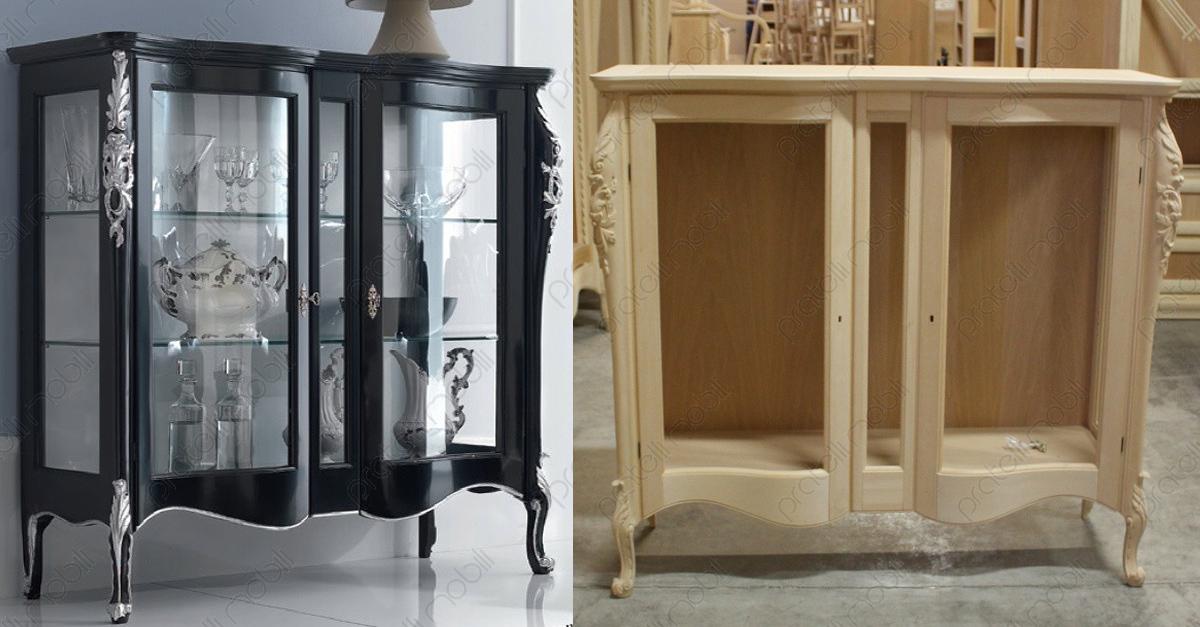 Pratelli mobili come arredare in stile barocco moderno la zona giorno - Mobile vetrina moderno ...