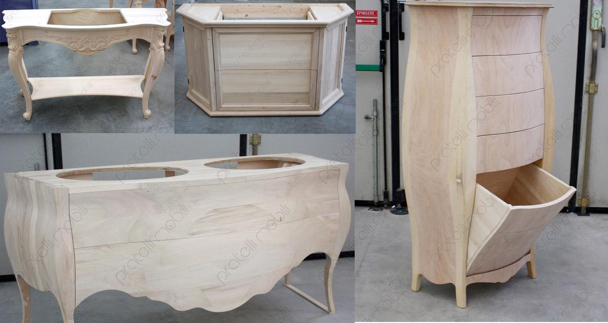 Pratelli mobili mobili grezzi per il bagno online pratelli mobili - Mobili legno ikea ...