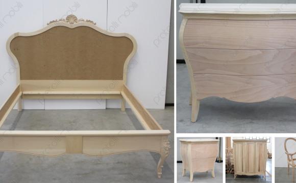 5 mobili grezzi per la camera