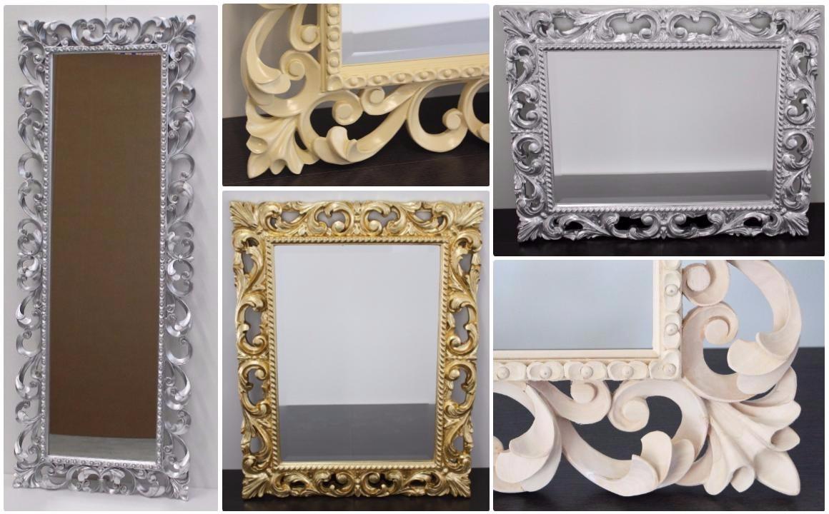 Pratelli mobili specchi barocco a confronto idee e - Specchio senza cornice ...