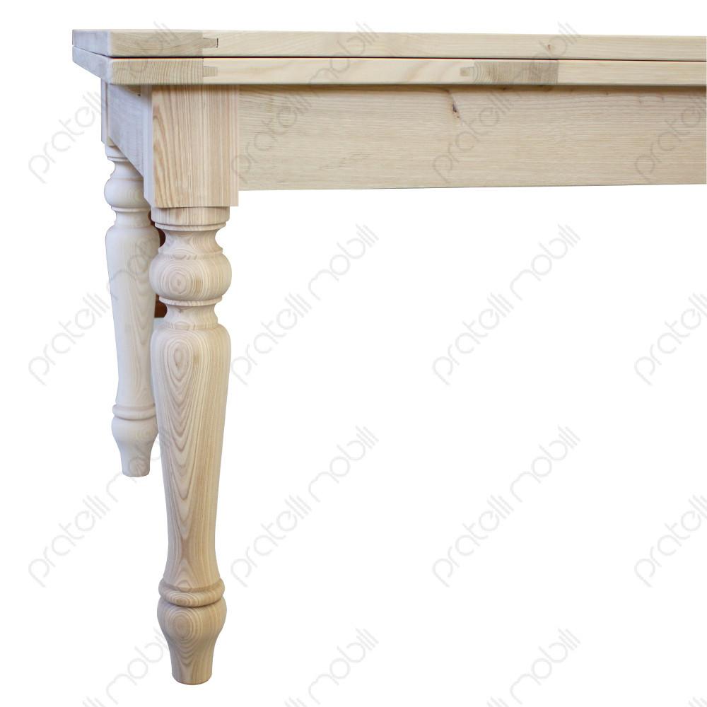 Pratelli mobili tavolo grezzo su misura in castagno for Tavolo legno frassino