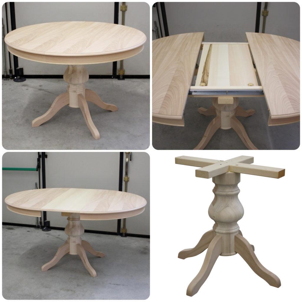 Tavolo Con Gamba Centrale pratelli mobili tavoli rotondi grezzi con basamento centrale